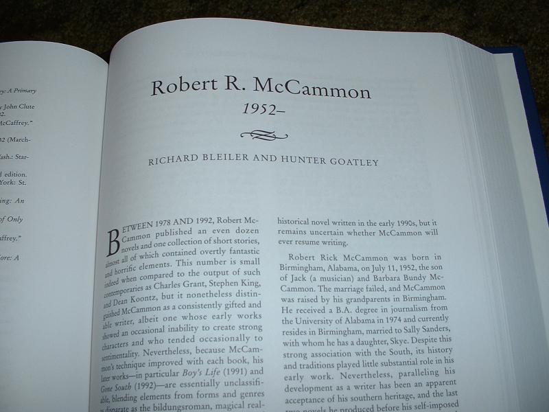 robert mccammon robert r mccammon a biographical essay robert r mccammon